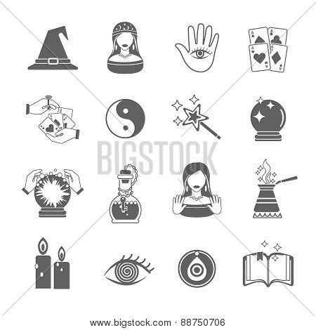 Fortune Teller Icon Set