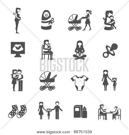 Motherhood Icons Set