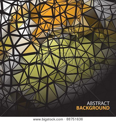 Abstract Background With Polygonal Figures On Dark Backdrop With