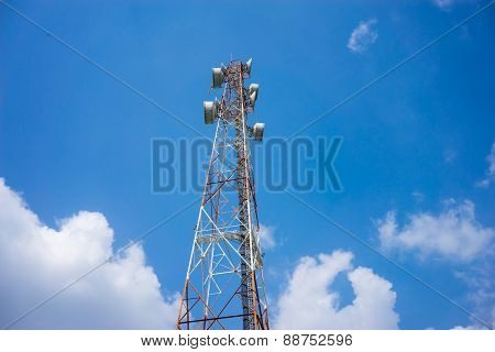 Cellular Pillar With Blue Sky