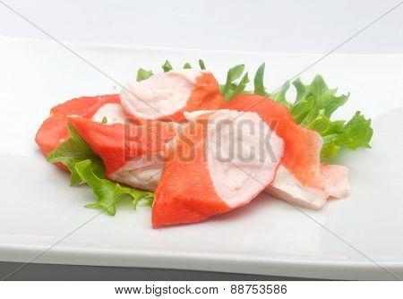 Crab Meat (imitation Of Surimi)
