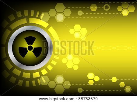 Abstrack  Radioactive Technology On Yellow Color Background