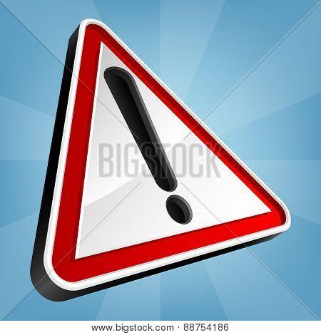Danger Warning Traffic Sign, Vector Illustration.