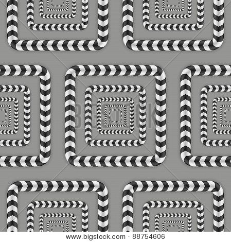 Rotating Squares, Optical Illusion, Vector Seamless Pattern.
