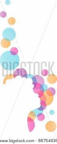 white girl silhouette vector
