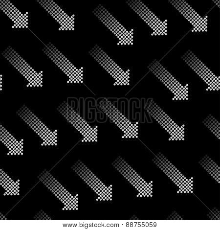 Halftone Arrows Vector Seamless Pattern