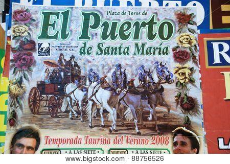 Festival poster, El Puerto de Santa Maria.