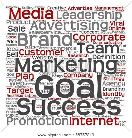 Vector concept or conceptual leadership marketing or business word cloud