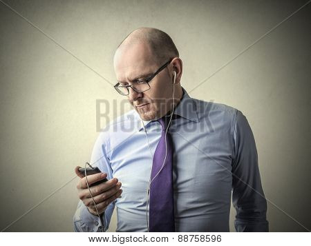 Manager using a phone