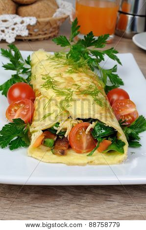 Omelet Stuffed   Vegetables