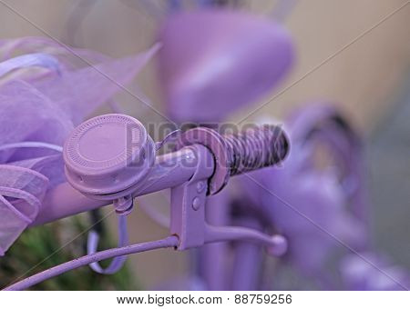 Violet Bicycle Handlebar With Purple Bell