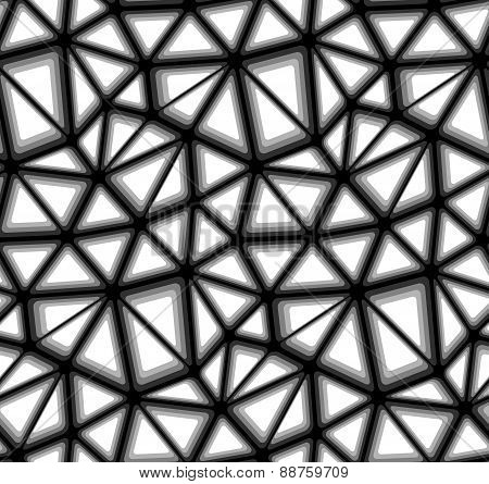 Triangular Geometric Mosaics, Vector Seamless Background Pattern