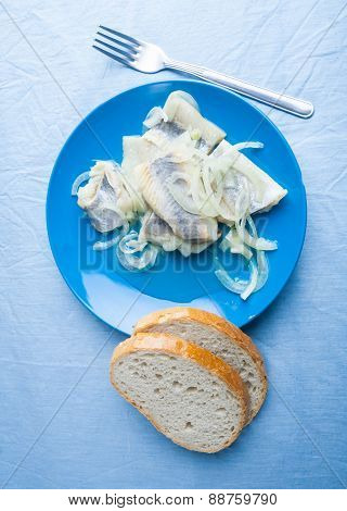Herring With Oil And Onion.