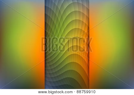 Fall Season Colored Abstract Background, Vector Illustration