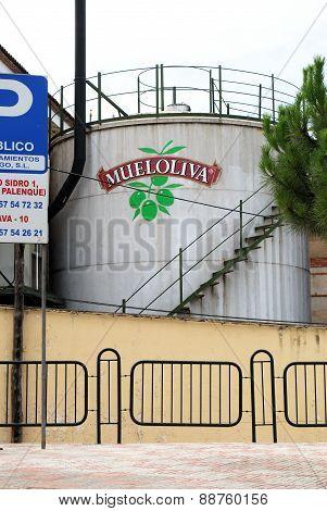 Olive oil processing plant, Priego de Cordoba.
