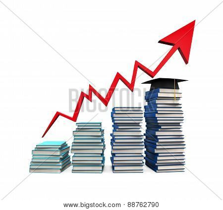 School Tuition Rising Illustration