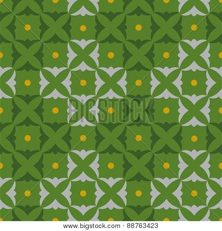 Pattern Squares Shamrocks, Gr...