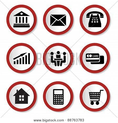 Set of vector business icons