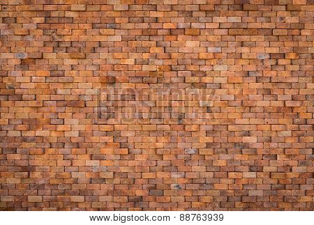 decorative red brick wall surface
