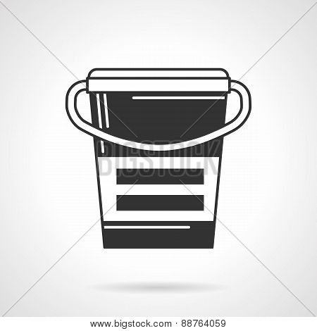 Black vector icon for supplements container