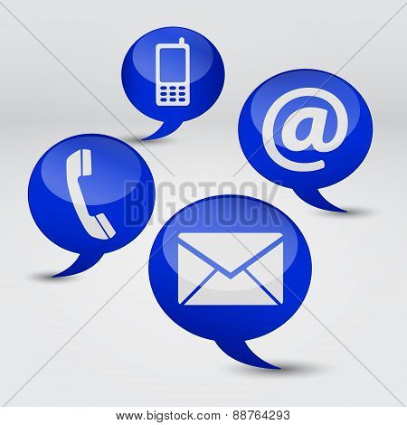 Web Contact Us Icons Concept