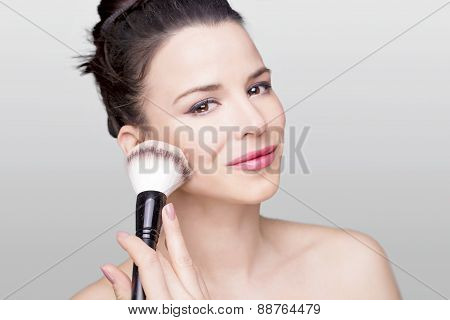 Woman and a brush