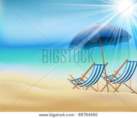 Daytime of summer on beach