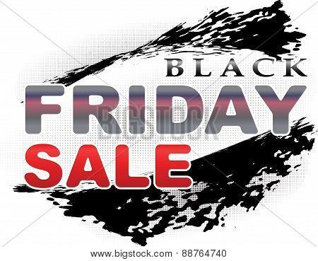 Black Friday Design In Grunge Style