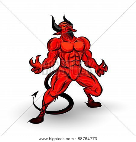 Red Devil Character