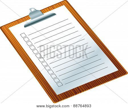 Clip board with notepad