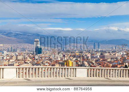 Panorama With Modern Buildings. Izmir City, Turkey