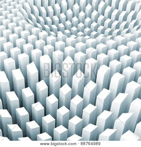 Abstract Digital Background With Curved Surface