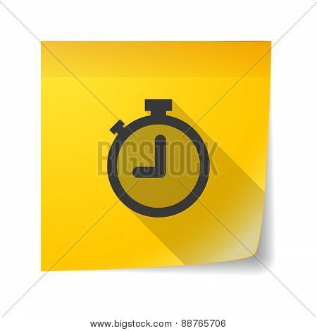 Sticky Note Icon With A Timer