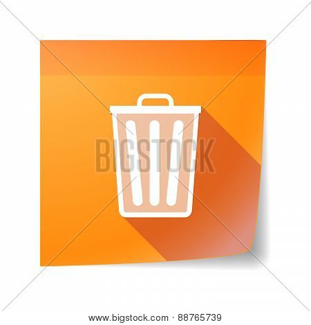 Sticky Note Icon With A Trash Can