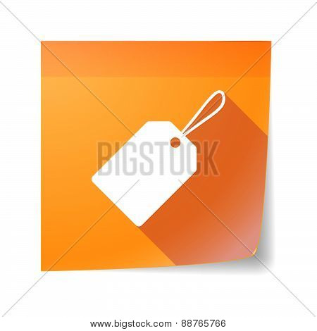 Sticky Note Icon With A Shopping Label
