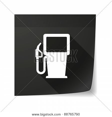 Sticky Note Icon With A Gas Station