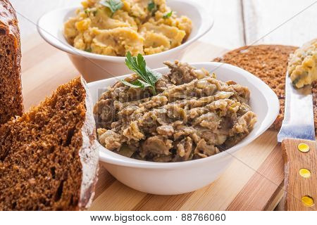 Lentils And Chickpeas Pate.