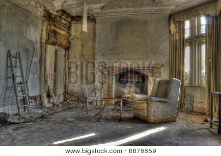 HDR photo of derelict house