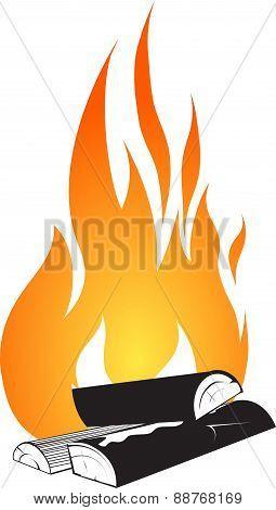 Bonfire Design Isolated On White