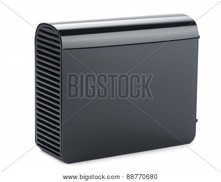 External usb hard disk isolated on white background.