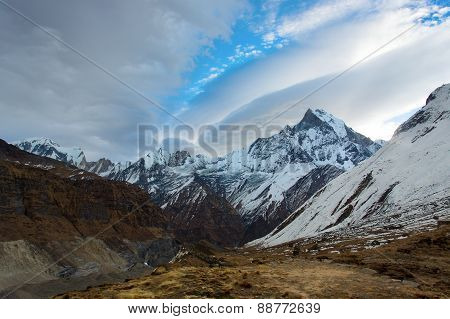 Machhapuchchhre (fish Tale) From Annapurna Base Camp Himalaya Mountains In Nepal