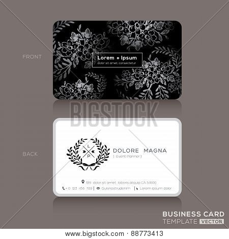 Floral Vintage Business Cards Design