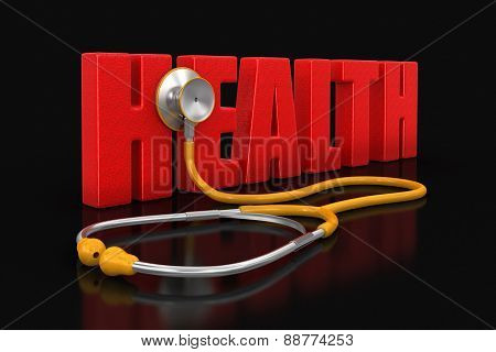 stethoscope and health (clipping path included)