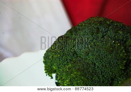 Green broccoli detail