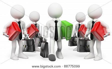 3D White People. Entrepreneur. Leader. Businessman Success
