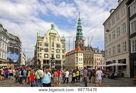 Amager Square (amagertorv) In Copenhagen, Denmark