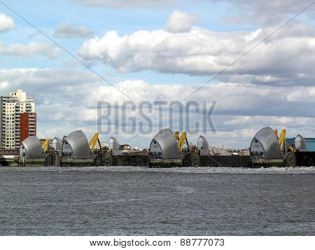 Thames Barrier in operation