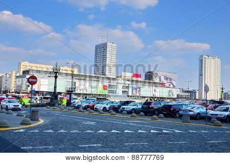 Shopping malls, cars