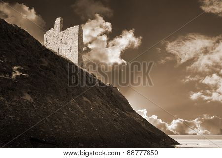 Ballybunion Castle And The Cliff Face