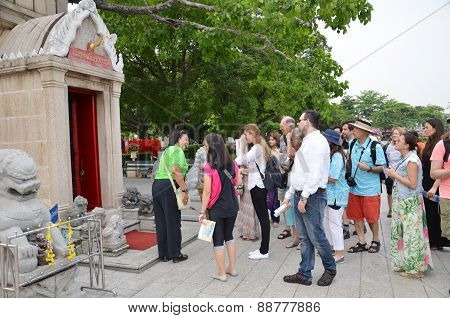 Tourists Visit The Bang Pa-in Palace